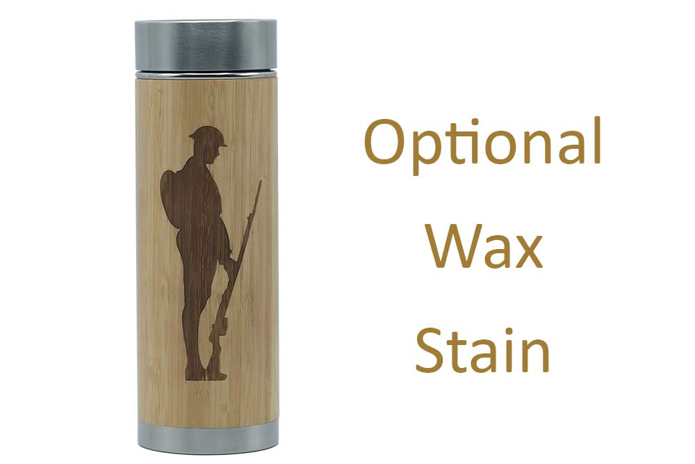 Soldier charity flask stained