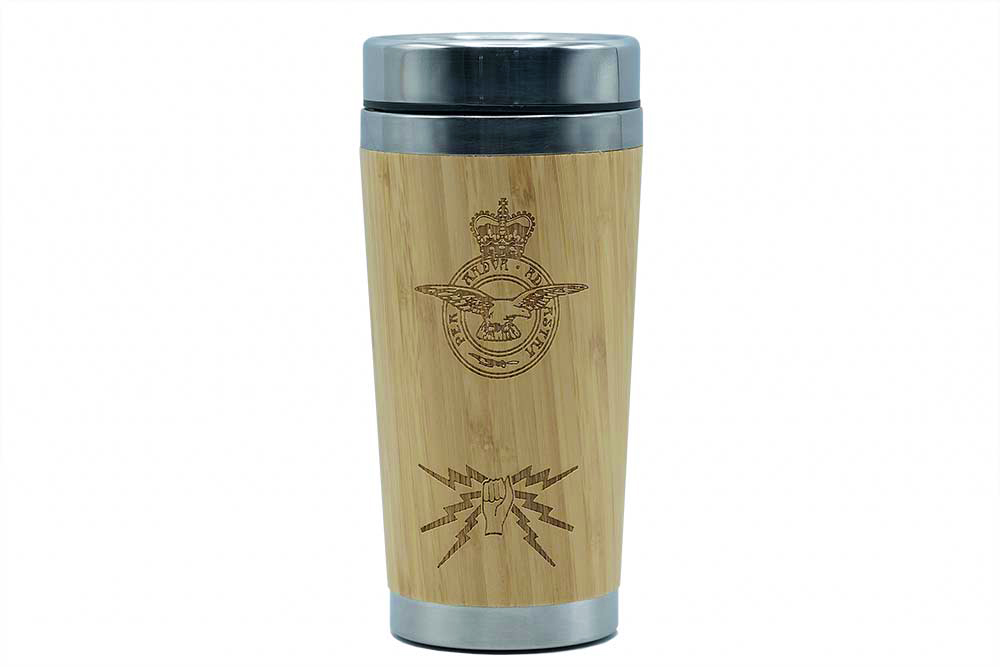 Fist and Sparks Bamboo Travel Mug