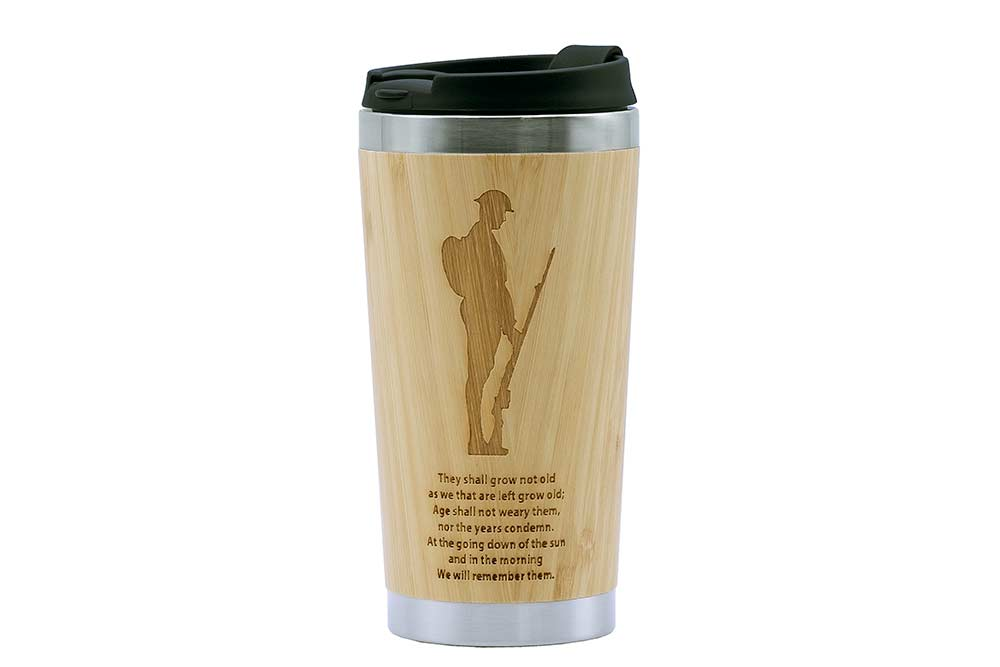 Remembrance Soldier Travel Mug